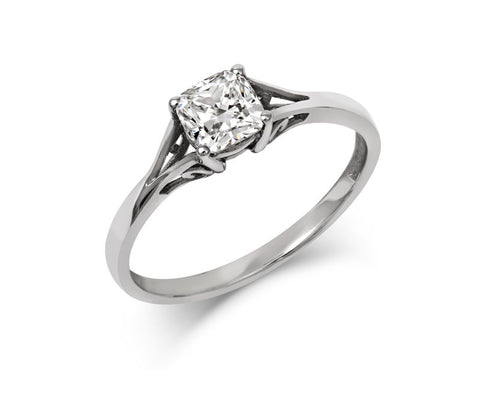 Vintage Cushion-cut diamond ring