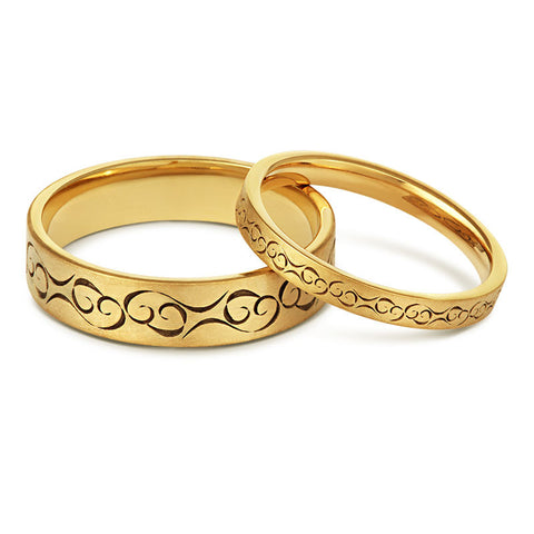celtic love wedding ring yellow or white gold 18ct or platinum - Pictures Of Wedding Rings