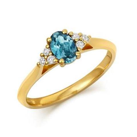Oval Teal Sapphire & Diamond Trilogy Engagement Ring