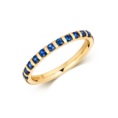 Sapphire Eternity/Wedding Ring - (18ct) Yellow, White or Rose Gold