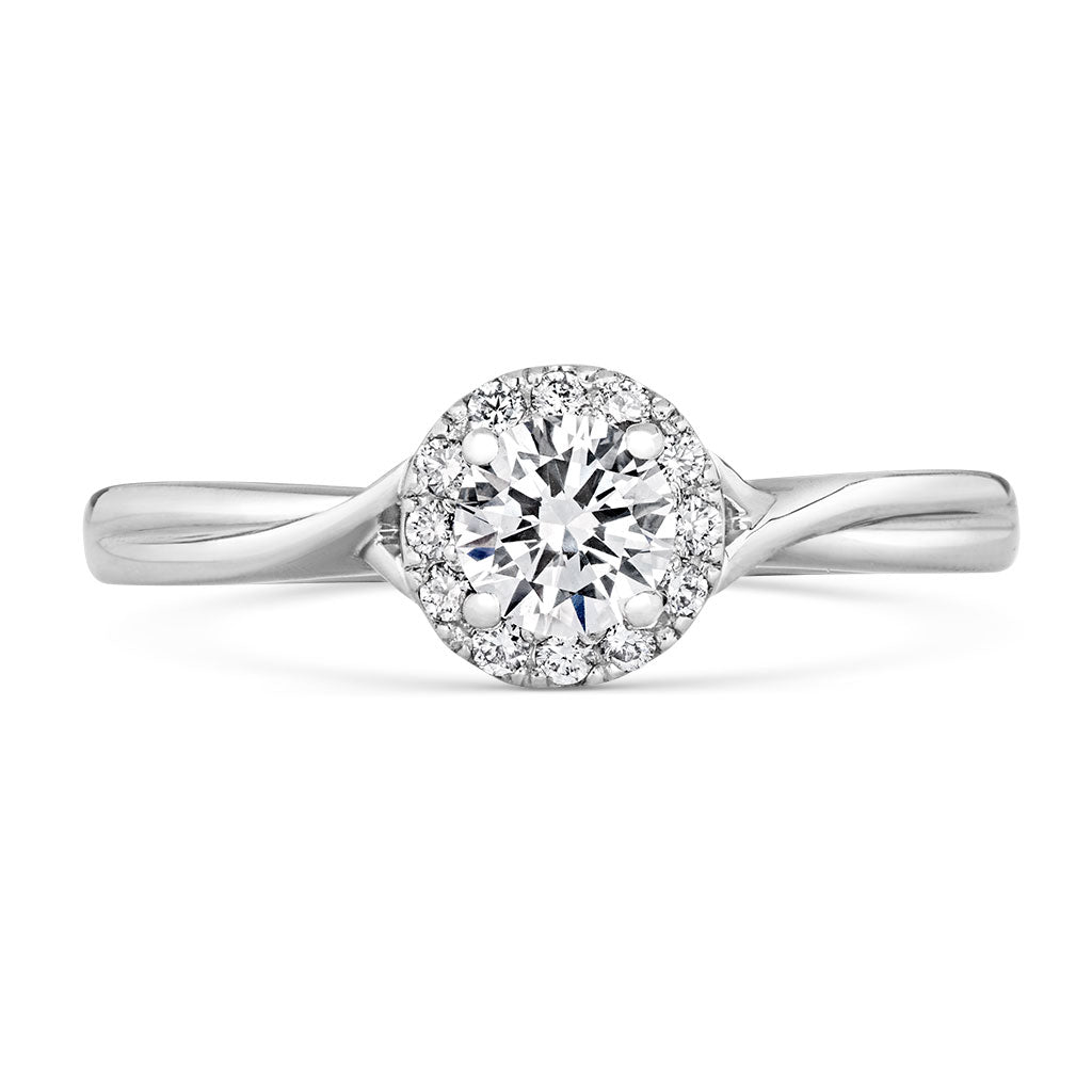 Zahra - Halo Lab Grown 0.4ct Diamond Cluster Engagement Ring