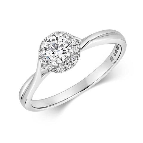 Zahra - Halo Lab Grown 0.3ct Diamond Cluster Engagement Ring