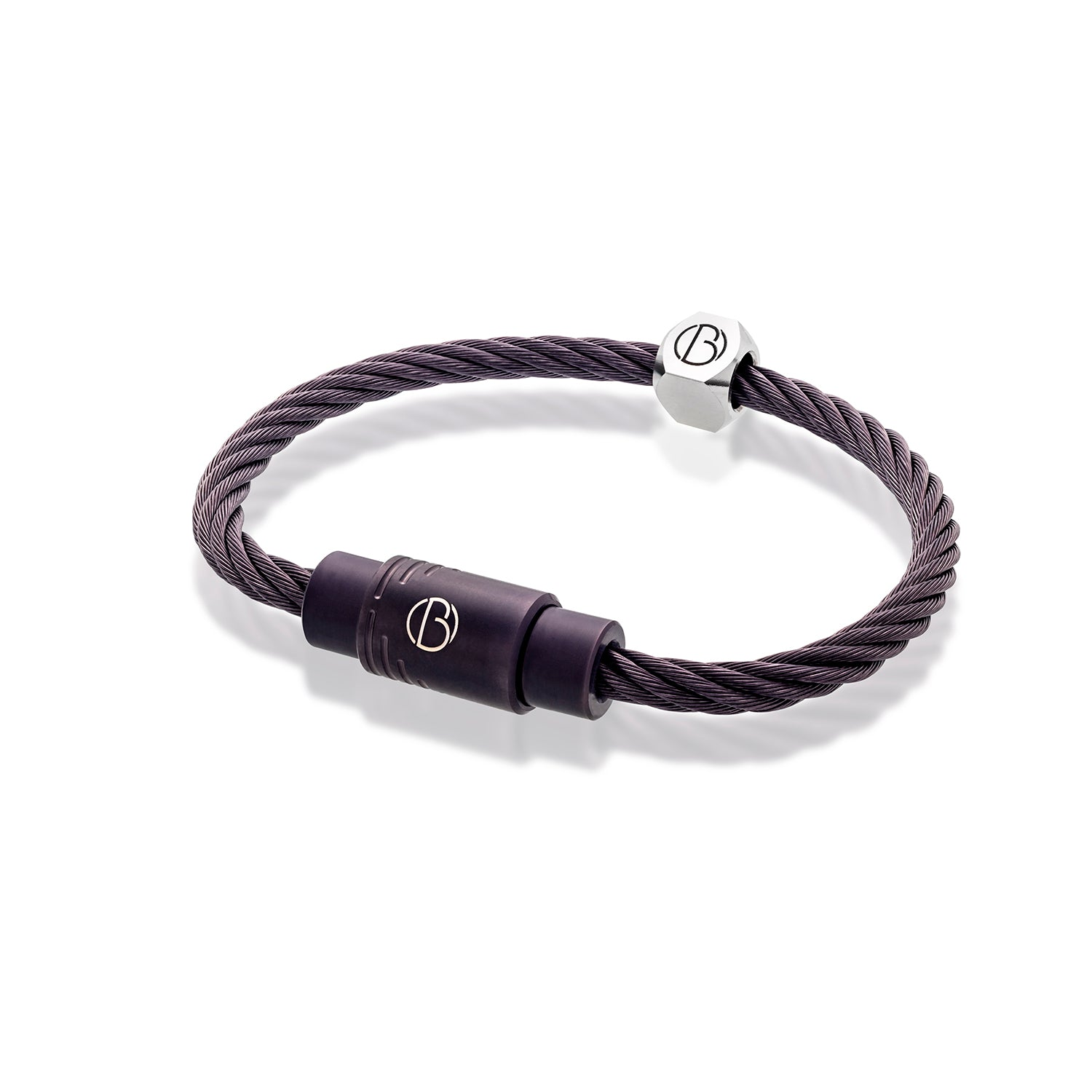 CABLE™Anthracite Stainless Steel Bracelet