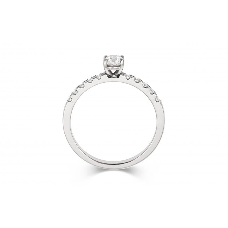 1ct Brilliant Solitaire Ethical Diamond Enagagement Ring with Diamond Set Band - CRED Jewellery - Fairtrade Jewellery - 4