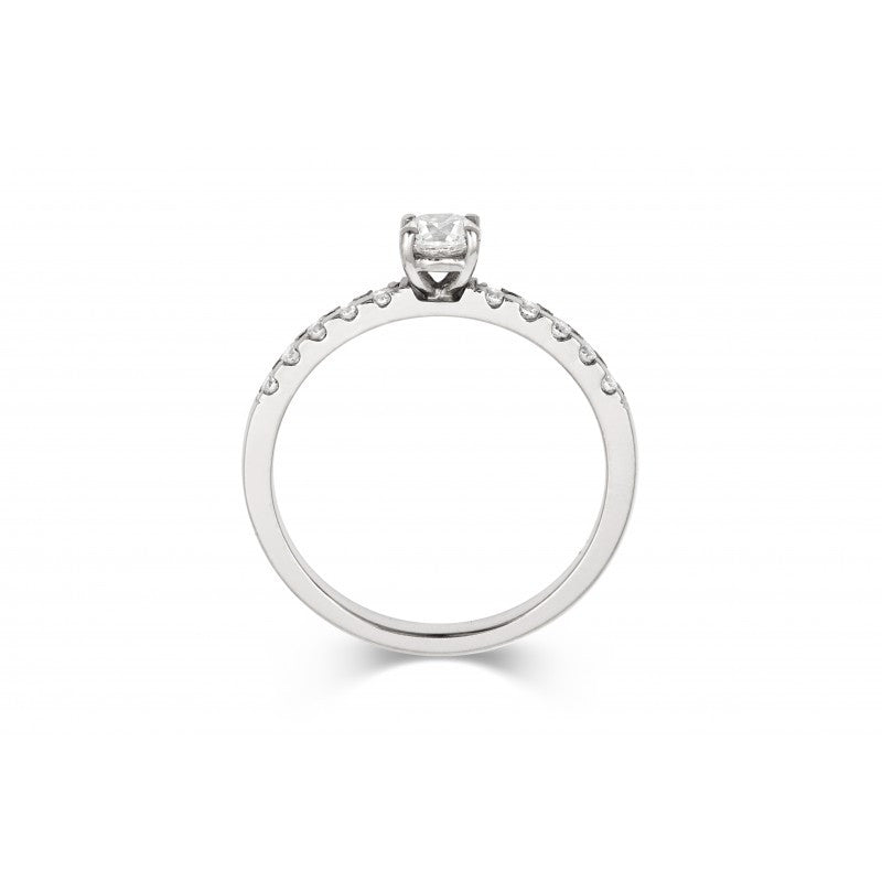 0.5ct Brilliant Ethical Solitaire Diamond Engagement Ring with Diamond Set Band - CRED Jewellery - Fairtrade Jewellery - 3