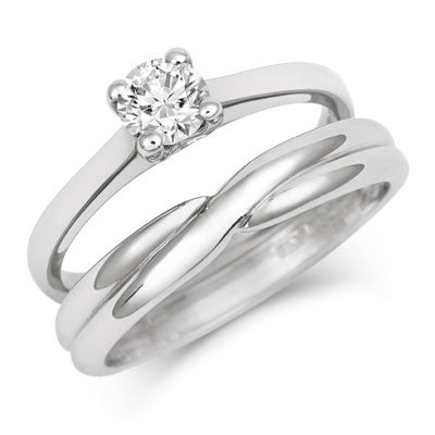 Crossover Wedding Band- Yellow or White Gold (18ct) or Platinum - CRED Jewellery - Fairtrade Jewellery - 7