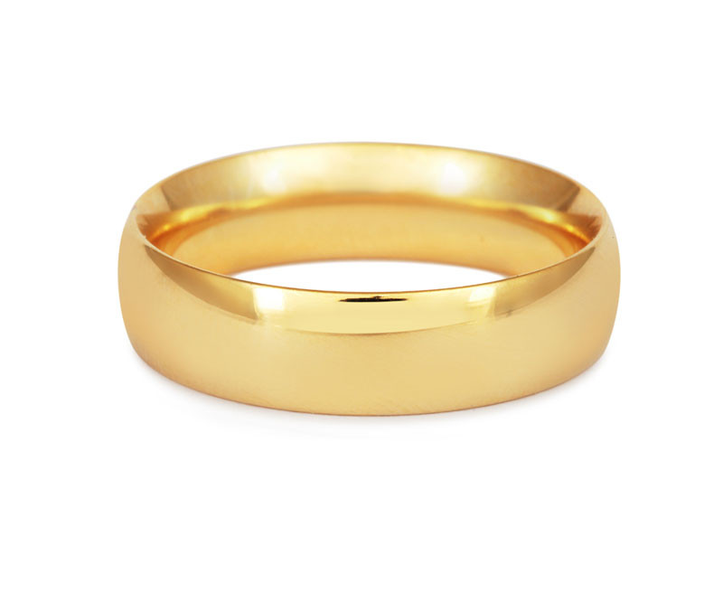 Men's Simple Court Wedding Ring- Fine Weight-(9ct) Yellow Gold - CRED Jewellery - Fairtrade Jewellery - 2