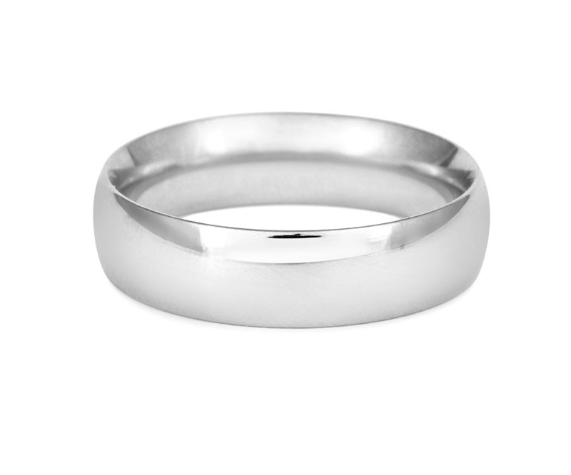 Men's Simple Court Wedding Ring- Fine Weight-(18ct) White Gold - CRED Jewellery - Fairtrade Jewellery - 2