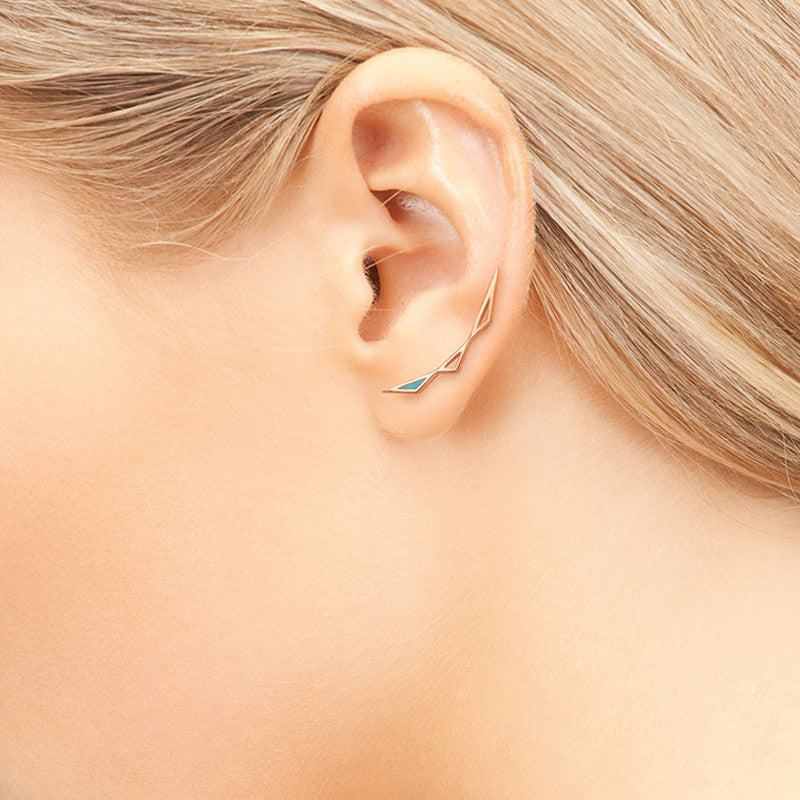 Origins Climber Earrings - CRED Jewellery - Fairtrade Jewellery - 2