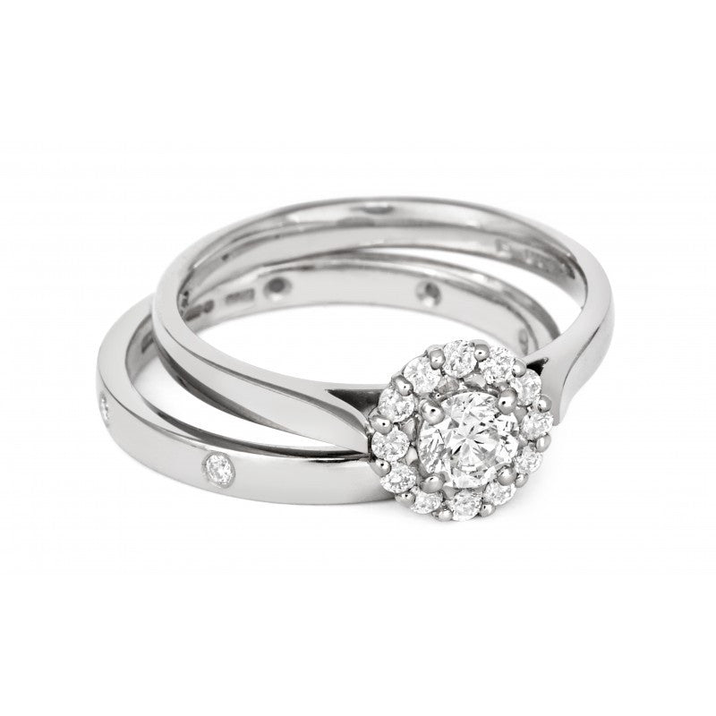Halo Style Ethical Diamond Cluster Engagement/Dress Ring - CRED Jewellery - Fairtrade Jewellery - 4