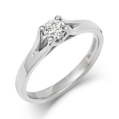 Brilliant Cut Enfold Ethical Solitaire 0.3ct Diamond Engagement Ring