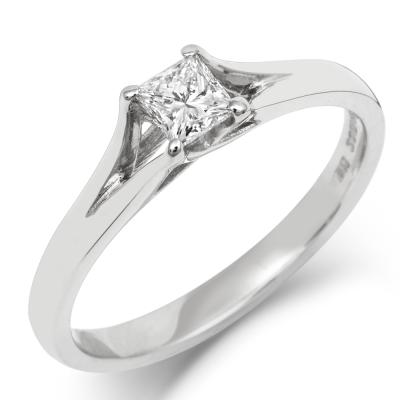Princess Enfold Solitaire Ethical 1ct Lab Grown Diamond Engagement Ring