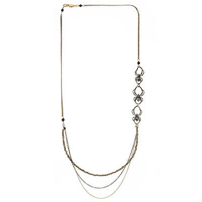 Spider Multi-chain Necklace - CRED Jewellery - Fairtrade Jewellery