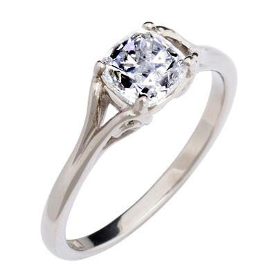 1ct Cushion-cut Ethical Diamond Engagement Ring - CRED Jewellery - Fairtrade Jewellery - 1