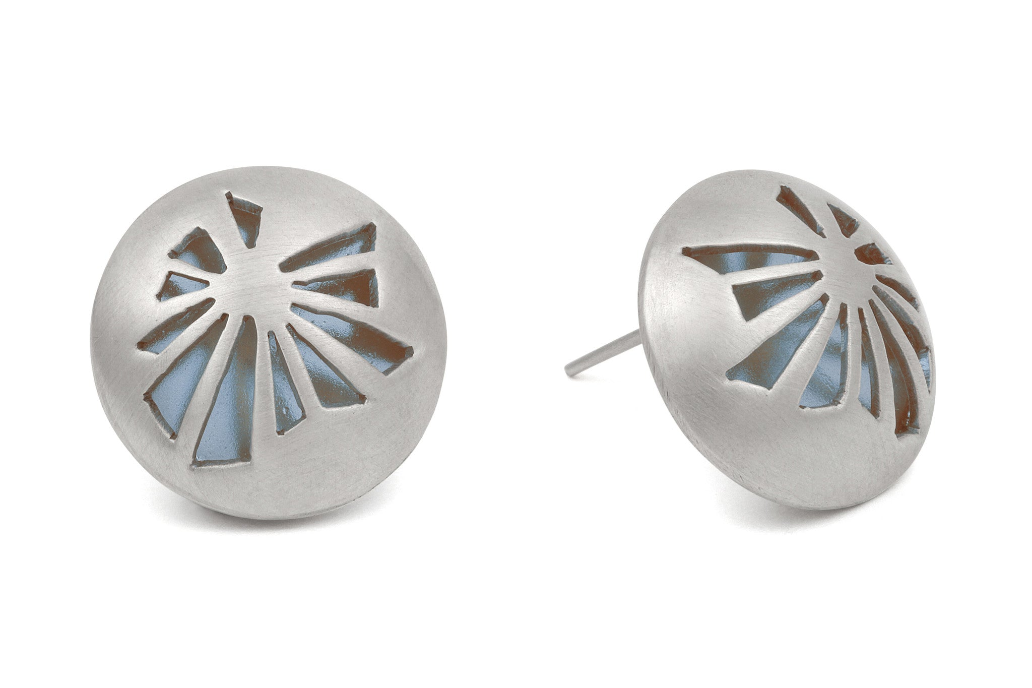 Fractured Light Stud Earrings - CRED Jewellery - Fairtrade Jewellery - 1