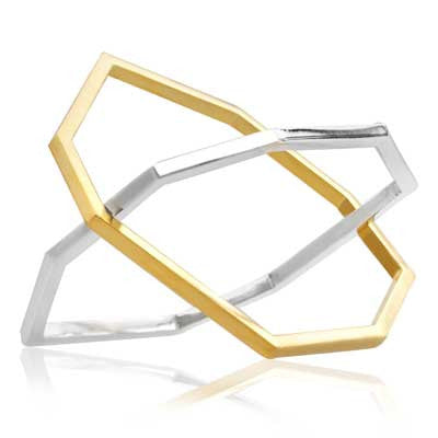 Hex stacking bangle - CRED Jewellery - Fairtrade Jewellery