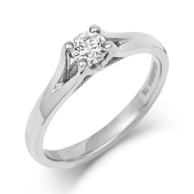 Brilliant Enfold Solitaire Ring - CRED Jewellery - Fairtrade Jewellery - 1