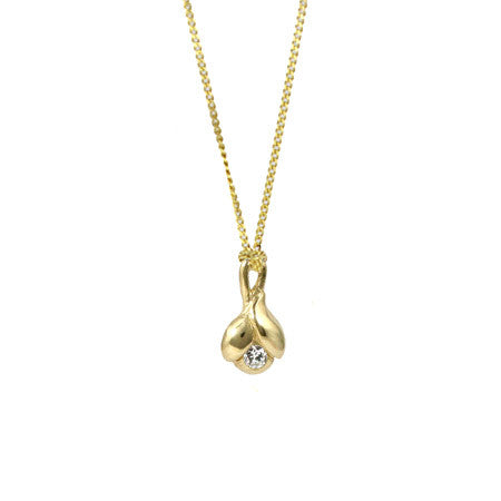 Pod Diamond & Gold Pendant