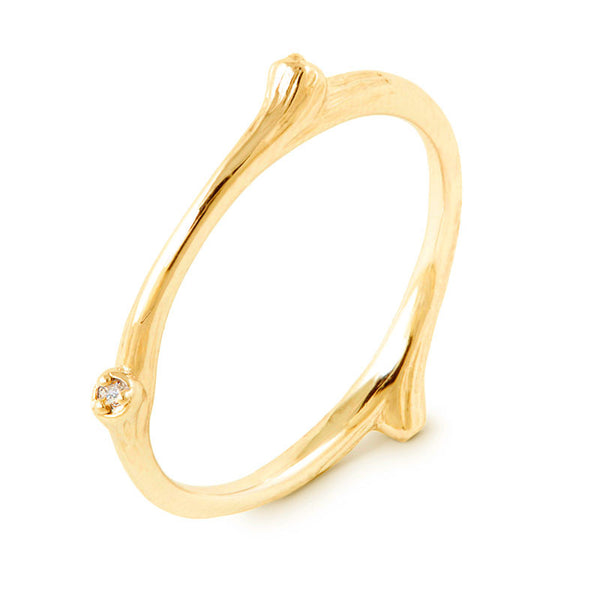 I'll Always Remember Branch ring with diamonds - CRED Jewellery - Fairtrade Jewellery - 1