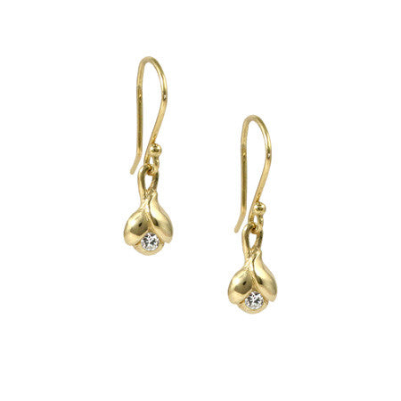 Pod Diamond & Gold Earrings