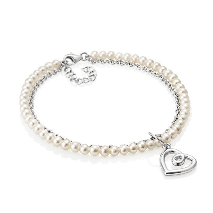 Aphrodite Heart Jersey Pearl Bracelet - CRED Jewellery - Fairtrade Jewellery - 1