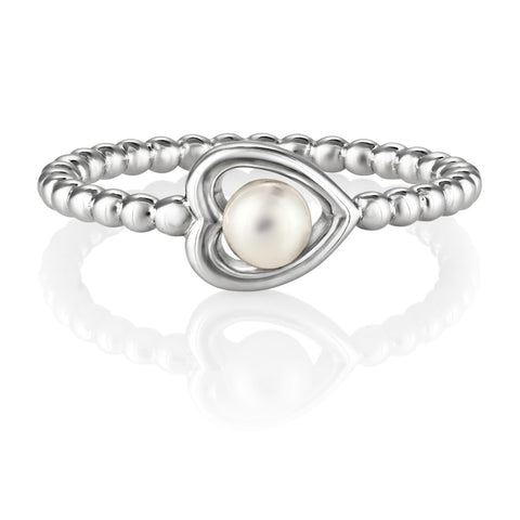 Aphrodite Heart Jersey Pearl Ring