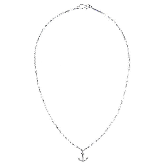 Small Anchor Pendant Necklace - CRED Jewellery - Fairtrade Jewellery