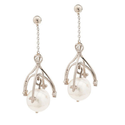 Southbank Pearl Drop Earrings