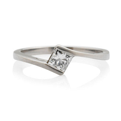 Princess Cut Ethical Diamond  Wrap Engagement Ring