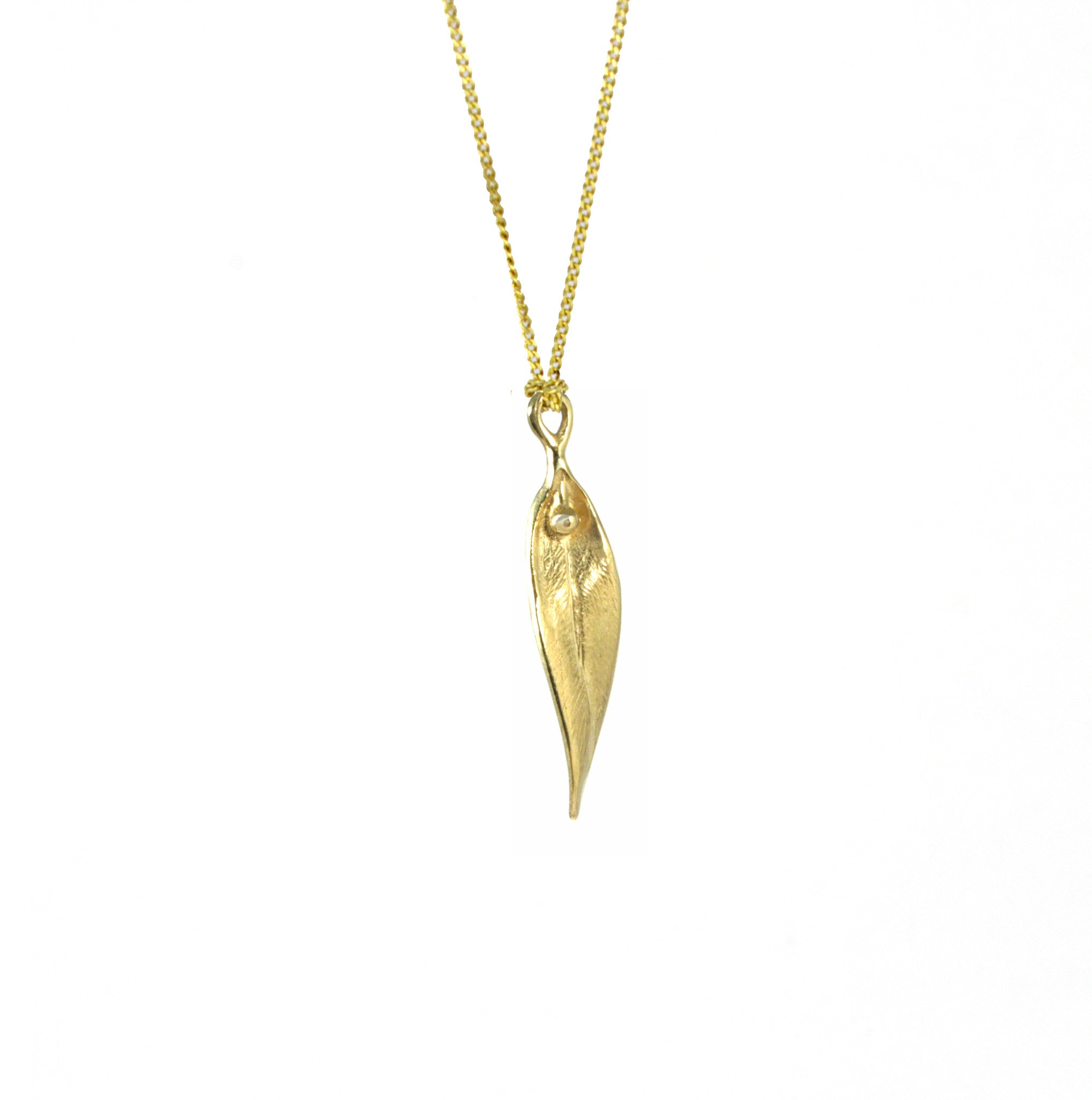Drop Leaf Necklace - CRED Jewellery - Fairtrade Jewellery