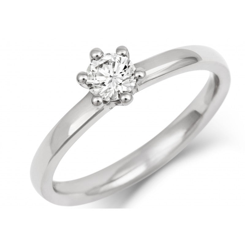 Classic Six Claw Ethical Diamond Solitaire - CRED Jewellery - Fairtrade Jewellery - 1