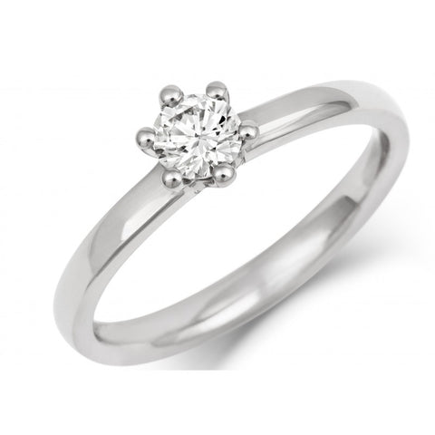 Classic Six Claw Ethical Diamond Solitaire Engagement Ring