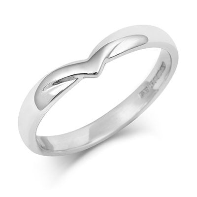 V Shaped Wedding Ring