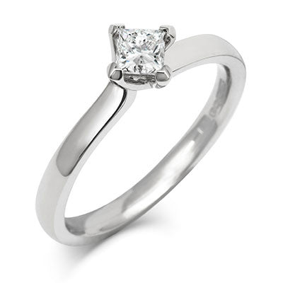 Princess Twist Solitaire Ethical Engagement Ring