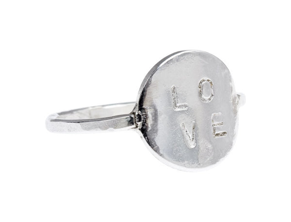 Love Stamp Ring - CRED Jewellery - Fairtrade Jewellery