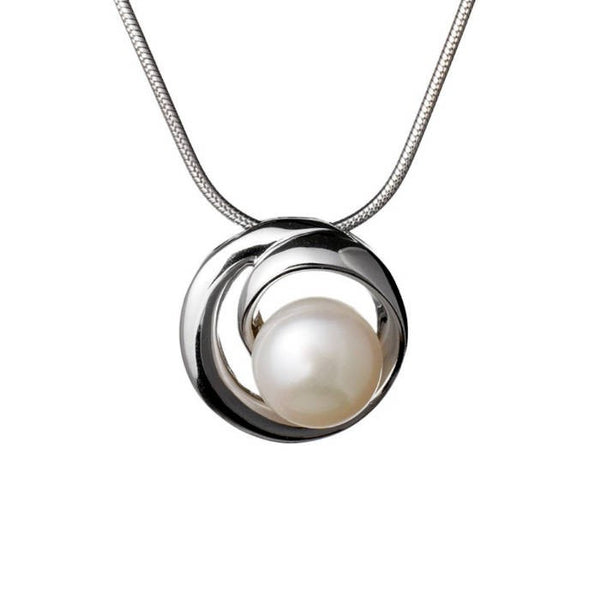 Pearl Swirl Round Pendant - CRED Jewellery - Fairtrade Jewellery