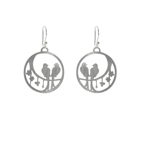Round Bird Earrings