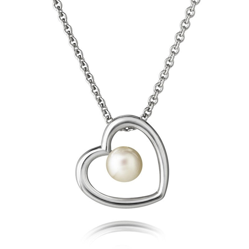 Aphrodite Heart Jersey Pearl Simple Pendant - CRED Jewellery - Fairtrade Jewellery - 1