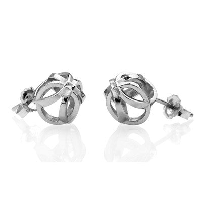 Forget - Me - Knot stud earrings