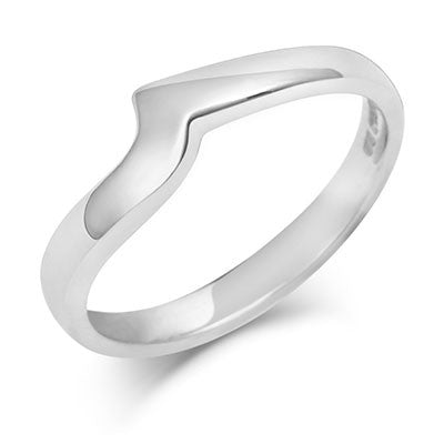 Flat Sweep Wedding Ring- Yellow or White Gold (18ct) or Platinum - CRED Jewellery - Fairtrade Jewellery - 1