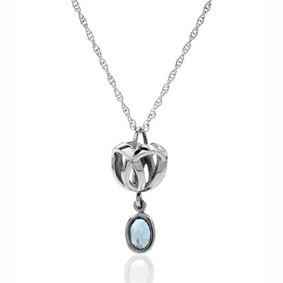Forget - Me - Knot dropstone pendant - CRED Jewellery - Fairtrade Jewellery