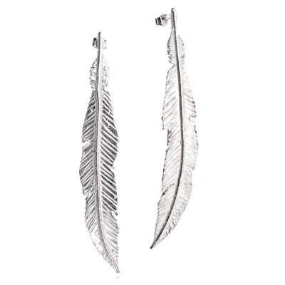 Feather Drop Earrings - CRED Jewellery - Fairtrade Jewellery
