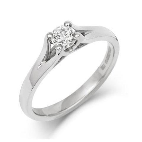 Brilliant Cut Enfold Ethical Lab Grown Solitaire 0.5ct Diamond Engagement Ring