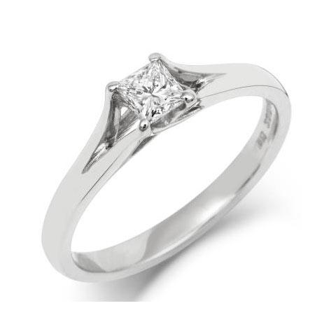 Princess Enfold Solitaire Ethical 1ct Diamond Engagement Ring