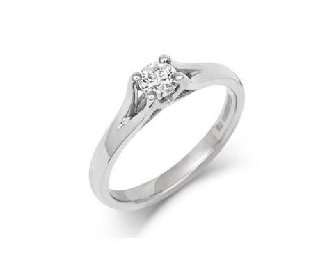 Brilliant Cut Enfold Ethical Lab Grown Solitaire 0.3ct Diamond Engagement Ring