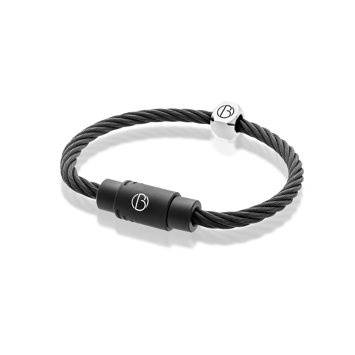 CABLE™Matte Black Stainless Steel Bracelet
