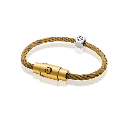 CABLE™Matte Gold Stainless Steel Bracelet