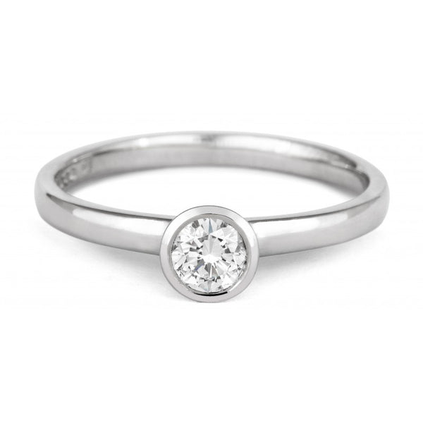 Petite Rubover Ethical Diamond Set Solitaire - CRED Jewellery - Fairtrade Jewellery - 3