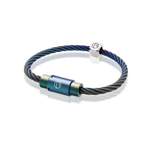 CABLE™Petrol Stainless Steel Bracelet