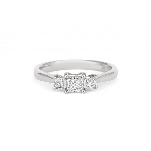 Princess Cut Diamond Gallery Trilogy - CRED Jewellery - Fairtrade Jewellery - 2